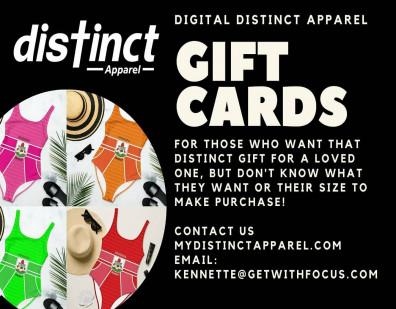 Introducing Distinct Apparel Gift Certificates!