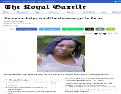 OUR CEO FEATURED: Kennette helps small businesses get in focus