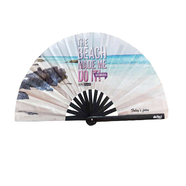 BERMUDA BEACH MADE ME DO IT  - FOLDABLE FANS
