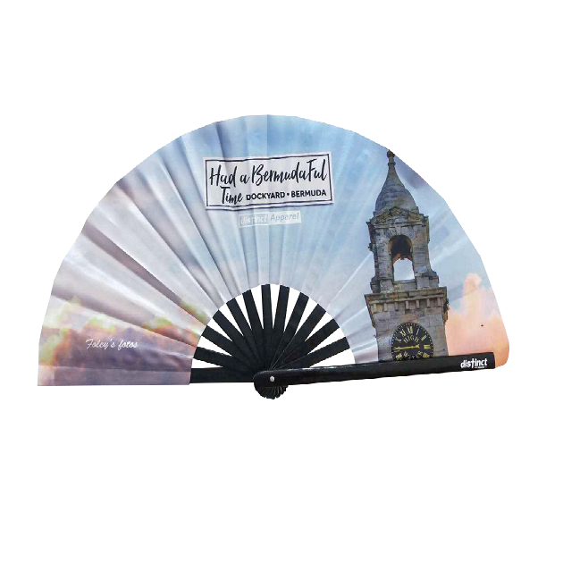 BERMUDAFUL DAY: CLOCKTOWER MALL, DOCKYARD  - FOLDABLE FANS