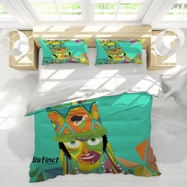 BERMUDA GOMBEY AYO!  CUSTOM 3 Piece Bedding Set