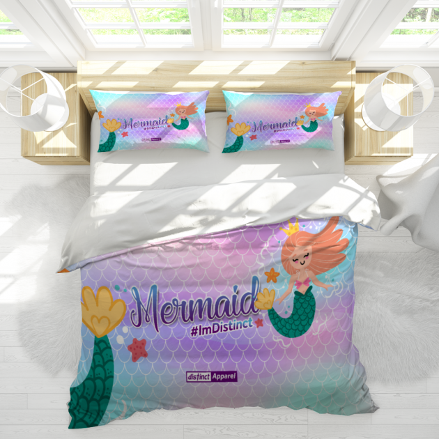 Mermaid CUSTOM 3 Piece Bedding Set