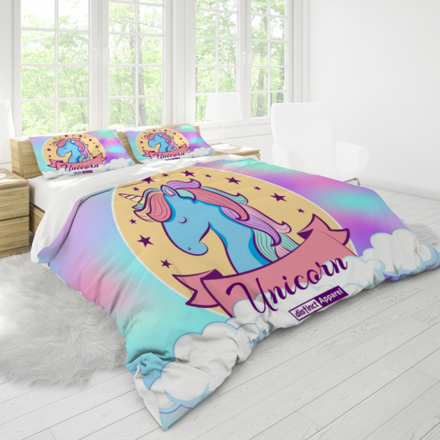 Unicorn CUSTOM 3 Piece Bedding Set