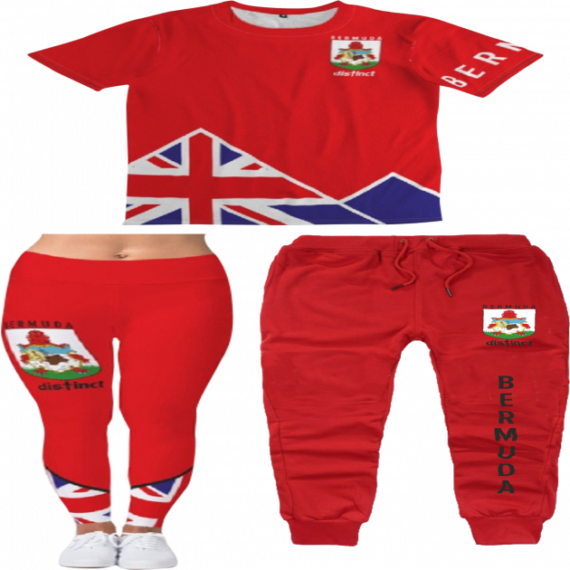 DisTinct Bermuda -  - JOGGER or LEGGINGS SETS (SHIRT & BOTTOMS)