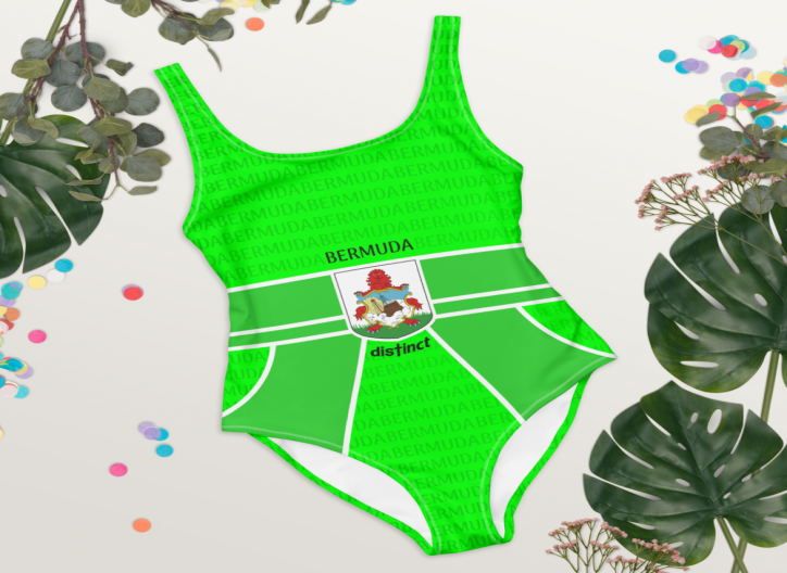 Bermuda LOVE (Green) - Women's One Piece Swimwear (CUSTOM PRE-ORDER ONLY)
