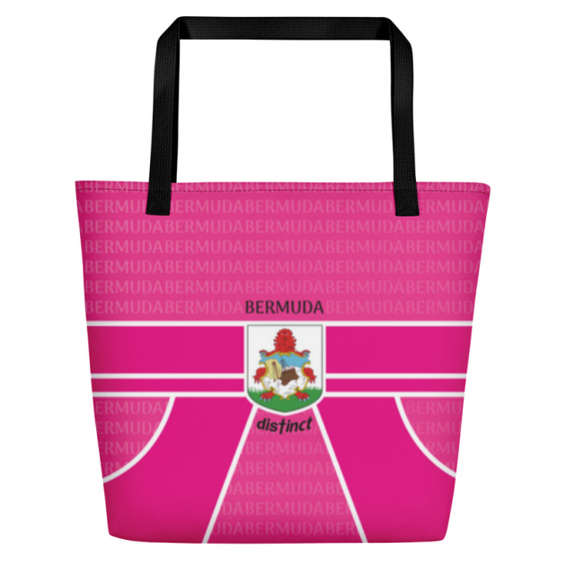 Bermuda LOVE - (Pink) Beach Bag/Tote (CUSTOM PRE-ORDER ONLY)