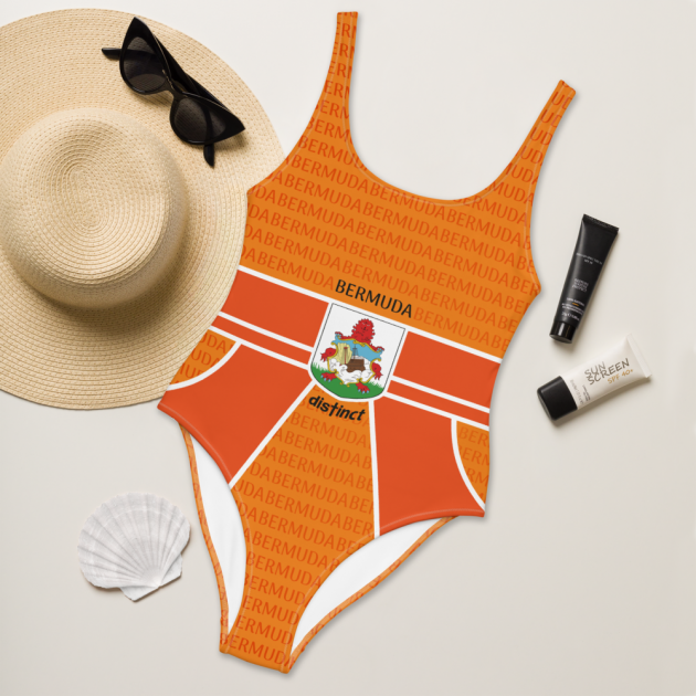 Bermuda LOVE (Orange) - Women's One Piece Swimwear (CUSTOM PRE-ORDER ONLY)