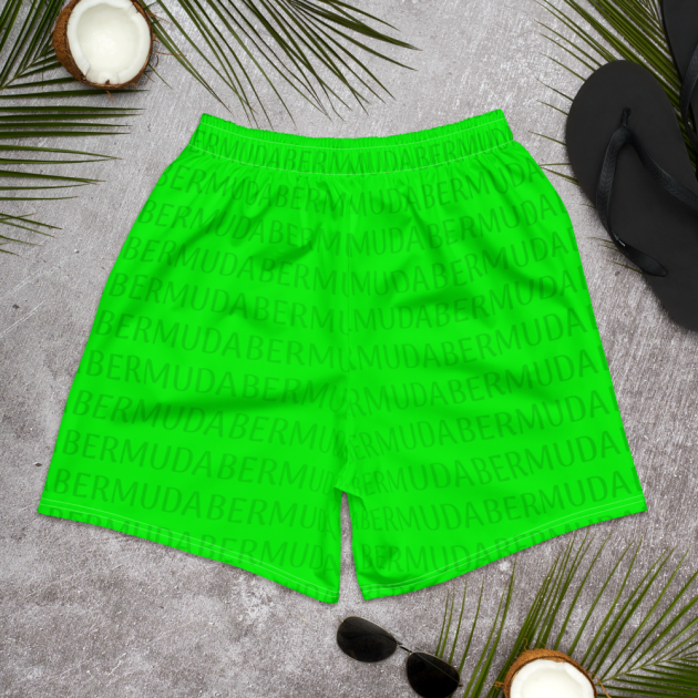 Bermuda LOVE - (Green) Unisex/Men's  Swimwear (Athletic Shorts) (CUSTOM PRE-ORDER ONLY)