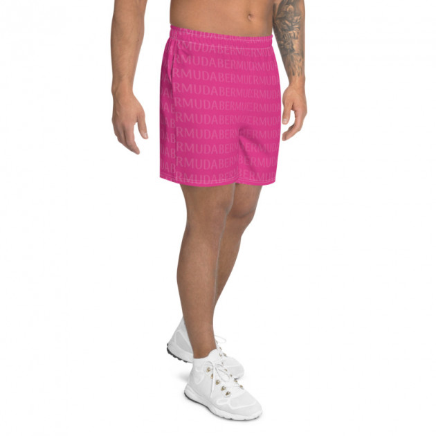 Bermuda LOVE - (Pink) Unisex/Men's  Swimwear (Athletic Shorts) (CUSTOM PRE-ORDER ONLY)