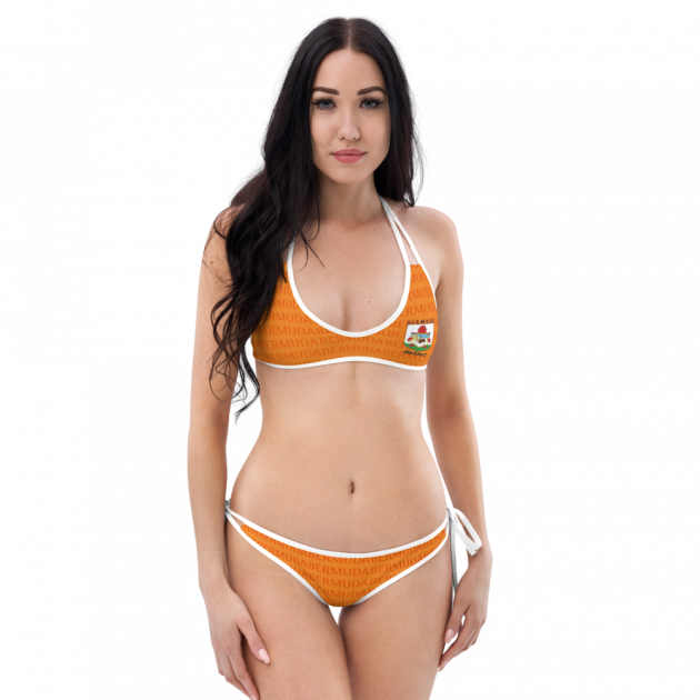 Bermuda LOVE (Orange) - Women's Two Piece Swimwear (CUSTOM PRE-ORDER ONLY)