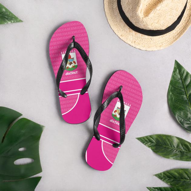 Bermuda LOVE (Pink) - Flip- Flops  (CUSTOM PRE-ORDER ONLY)