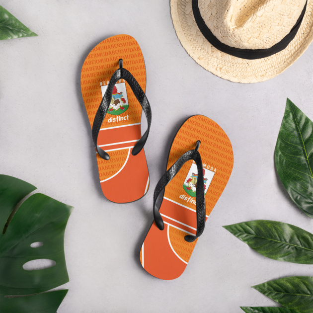 Bermuda LOVE (Orange) - Flip- Flops  (CUSTOM PRE-ORDER ONLY)