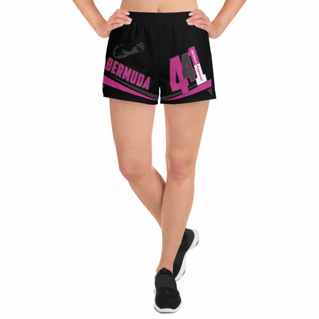 Bermuda 441 -  (Black) Women's  Athletic Shorts (CUSTOM PRE-ORDER ONLY)