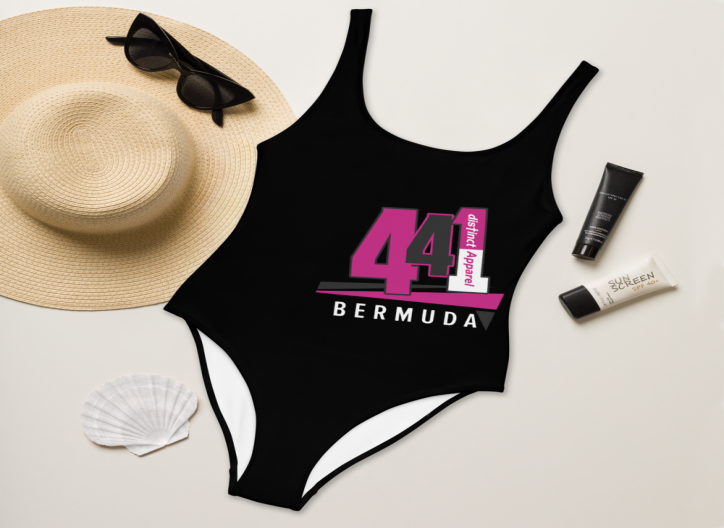 Bermuda 441 -  (Black) Women's  ONE PIECE SWIMWEAR (CUSTOM PRE-ORDER ONLY)