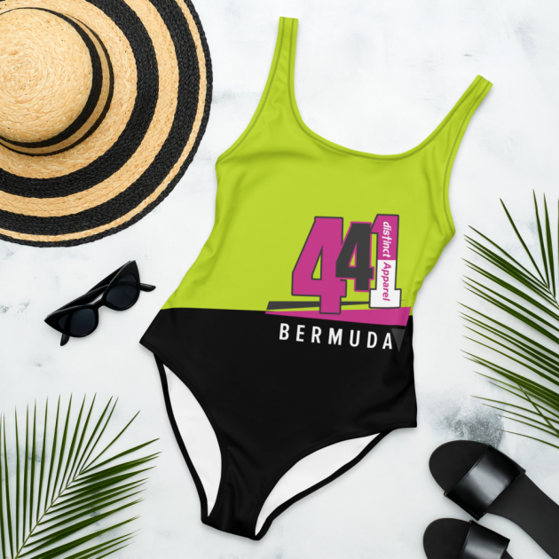 Bermuda 441 -  (Green/Black) Women's  ONE PIECE SWIMWEAR (CUSTOM PRE-ORDER ONLY)