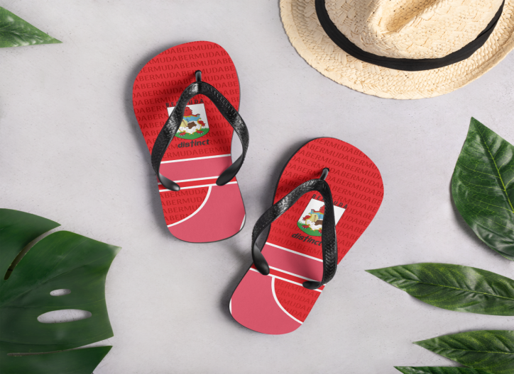 Bermuda LOVE - (Red) Flip- Flops  (CUSTOM PRE-ORDER ONLY)
