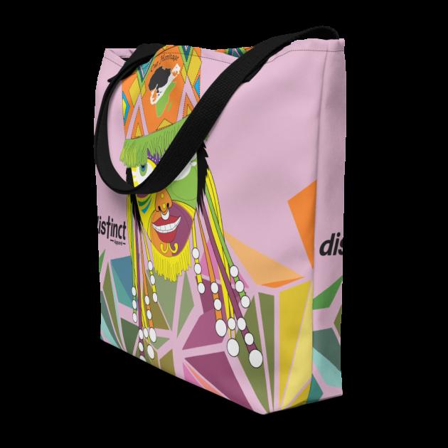 Bermuda Gombey Ayo! - (Pink) Beach Bag/Tote (CUSTOM PRE-ORDER ONLY)