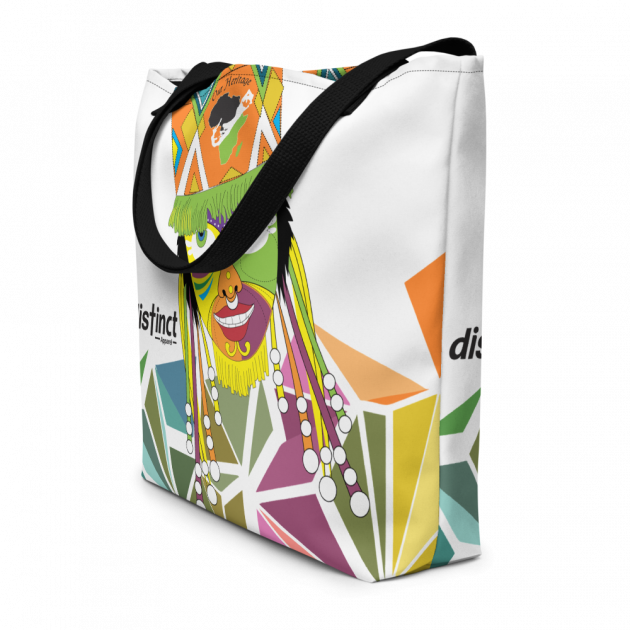 Bermuda Gombey Ayo! - (White) Beach Bag/Tote (CUSTOM PRE-ORDER ONLY)