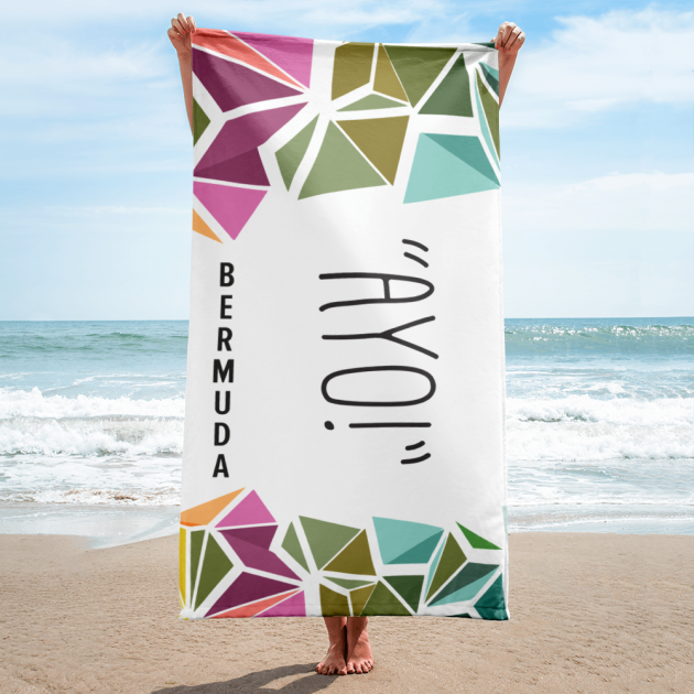Bermuda Gombey Ayo! - Beach Towel  (CUSTOM PRE-ORDER ONLY)