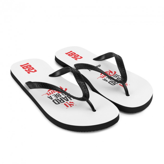 SO HARD TO BE A RAM (1892) BLACK edition - Flip- Flops  (CUSTOM PRE-ORDER ONLY)