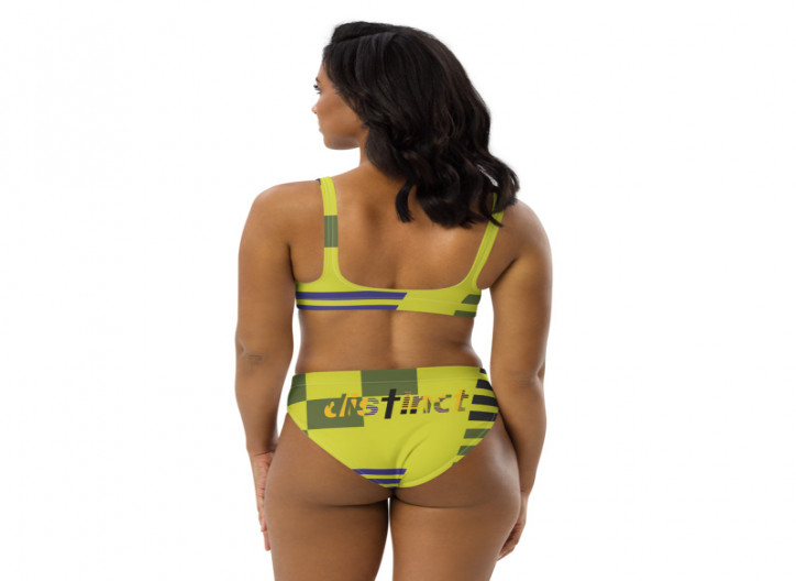 African print - (PICK ANY COLOR) Women's Two Piece High-Waisted Bikini (CUSTOM PRE-ORDER ONLY)