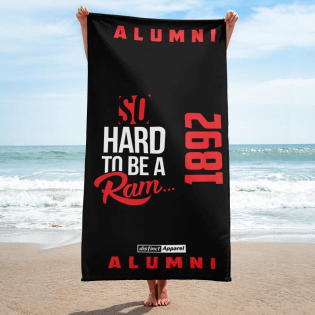 SO HARD TO BE A RAM (1892) - Beach Towel  (CUSTOM PRE-ORDER ONLY)