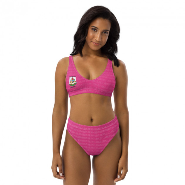 $50 Bermuda LOVE (PINK, PICK ANY COLOR) Women's Two Piece High-Waisted Bikini (CUSTOM PRE-ORDER ONLY)